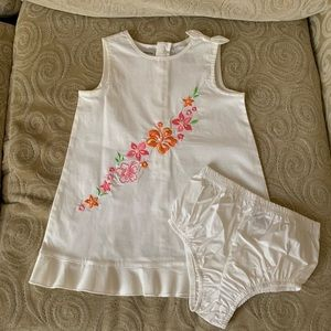 First Impressions Floral White Dress 18mos